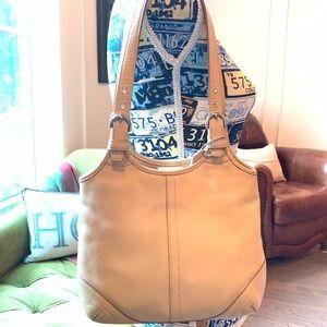 COACH Leather Shoulder Bag - Tan - Med - Good Cond